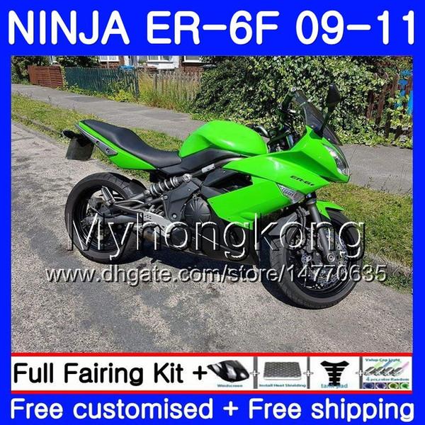 Body For KAWASAKI NINJA 650R Stock green hot ER 6F ER-6F 2009 2010 2011 252HM.32 Ninja650R ER6 F ninja650 ER6F 09 10 11 Fairing Kit+7Gifts