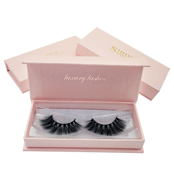 Shidi high-end 3D mink eyelashes 1 pair of natural thick false eyelashes natural thick eyes shine enlarged eyes DHL