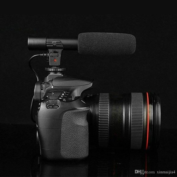 Black MIC-01 3.5mm Studio Digital Video DV Camera Stereo Recording Microphones