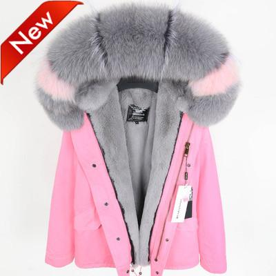 New arrival Women's mini military Jacket with Detachable soft velvet furs Liner and Raccoon fur collar @cheapsneakers
