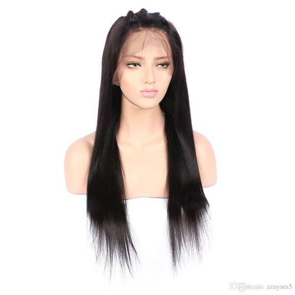 Brazilian temperature wire Wigs For Women Straight Long straight natural looking hair glueless lace front full hair lace wig