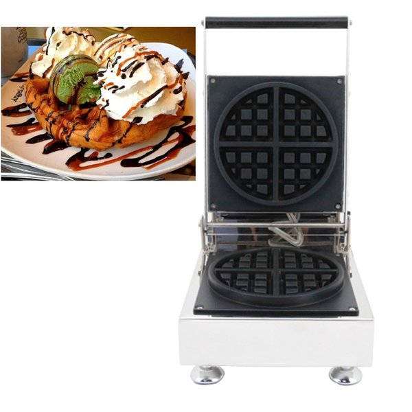 110v 220v Non-stick Tradition Belgian Waffle Maker Electric Round Grip Thick Waffle Machine Iron Baker Making Pan Oven