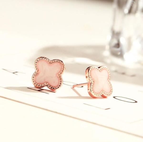 White+Rose Gold Earrings