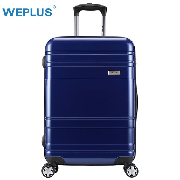 WEPLUS Suitcase Colorful Rolling Luggage Travel Suitcase with Wheels TSA Lock Spinner Custom Rod Box Mujeres Hombres 24 pulgadas
