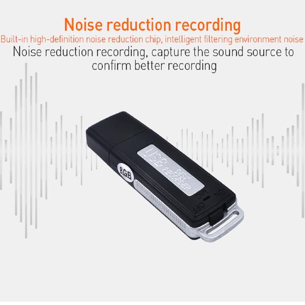 TISHRIC 8GB MINI USB Voice Recorder Pen Digital Audio USB Flash Drive Support to 32GB TF Memory U-Disk Dictaphone Professional