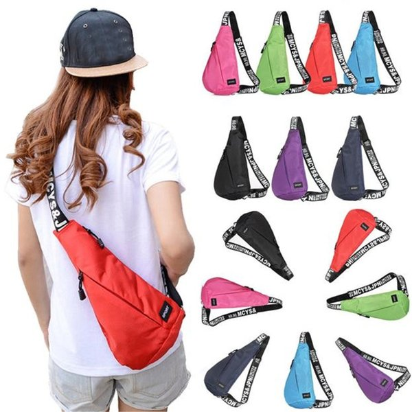 Sling Hiking Chest Bags Unisex Waterproof Shoulder Messenger Unbalance Backpack Cycling Bicycle Accessories Top Quality Jane 12 #321560