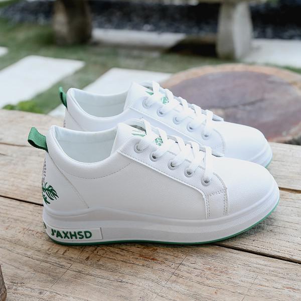 Sexy2019 Innere Erhöhung Wenig Weißer Schuh Frau Frauen Hundert Sätze von Dick-sohlen Koreanische Coole Sportschuhe