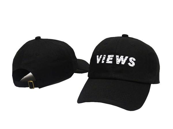 Novas Vistas Bordado Ajustável de golfe Cap algodão ajustável Pai chapéu boné de beisebol sólido unisex Hip-hop chapéus chapéu snapback