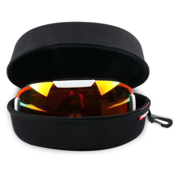 Caixa de óculos de proteção de esqui na neve EVA grande caixa de óculos de esqui à prova de choque à prova d 'água saco de snowboard óculos caso original