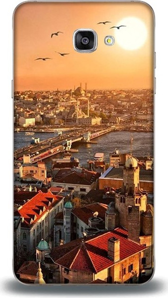Dynamics for samsung j7 prime case istanbul sunset pattern leather case ship from turkey HB-000850970