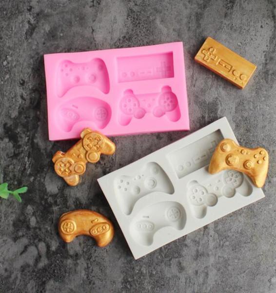 DHL Oyun Denetleyicisi Kalıp Silikon El Yapımı kek Şeker Kalıpları Video Oyun Denetleyicisi Kalıp Gamepad Çikolata DIY Mutfak için Fondan Kalıp NN