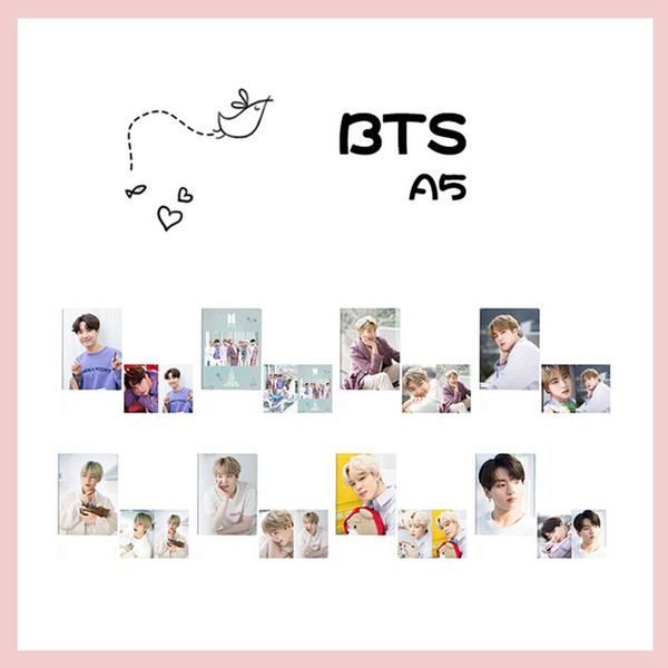 1 pieza K-pop BTS Bangtan Boys A5 portada del álbum portátil Notebook JIN V JIMIN SUGA RM planificador diario