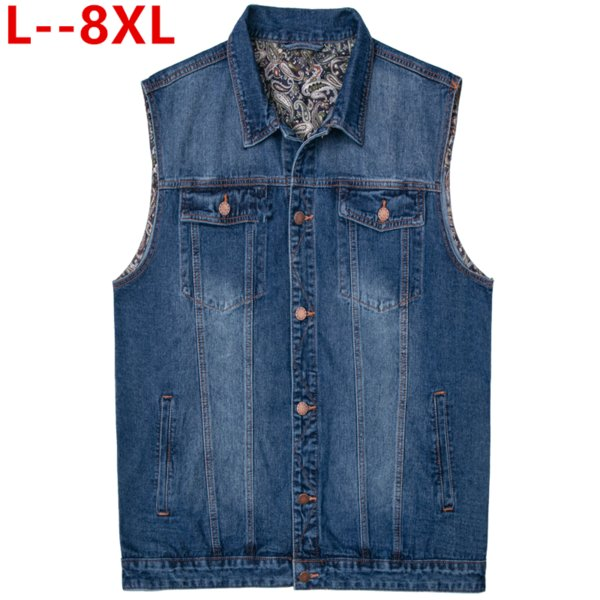 New Womens Jeans Denim Vest Sleeveless Jacket Slim Waistcoat Cowboy Coat S-8XL