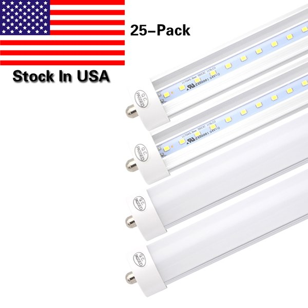T8 8FT LED Tube Light Bulb, Single Pin FA8 Base, 8 Foot Double Side (90W LED Fluorescent Bulbs Replacement), Stock In US
