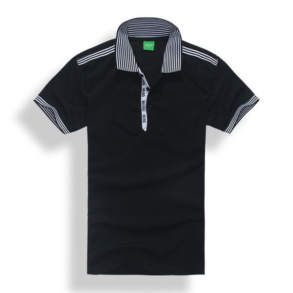 Mens Polo Shirts Summer Embroidery Lapel Polos Tees Short Sleeve Polo Fashion Leasure High Quality Breathable Tees for Man