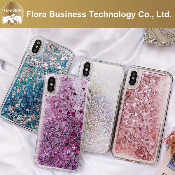 Best Innovative Hot Mobile Accessories Hard PC Bling Glitter Liquid Floating Phone Cases For iPhone 6 7 PLUS 8 XS MAX OPP BAG