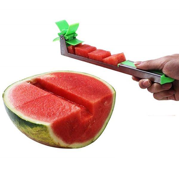 Edelstahl Wassermelonenschneider Cutter Messer Corer Obst Gemüse Werkzeuge Küchenhelfer