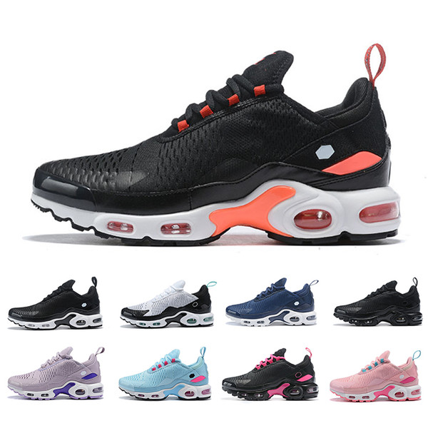 Nike air max TN NIKE AIR MAX 270 plus TN Wholesale 2019 New Design Top Quality Mens Running Shoes Chaussures Hommes Breathable Mesh Basket Requin Noir Zapatillaes Free Shipping