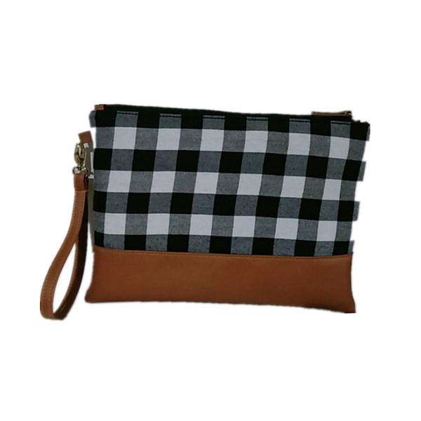Frauen Handtaschen Leder Kupplung Handgelenk Plaid Handtasche Schulter Umhängetasche Mode Damen weiß rot Handtaschen LJJV431 DIY LJJV431