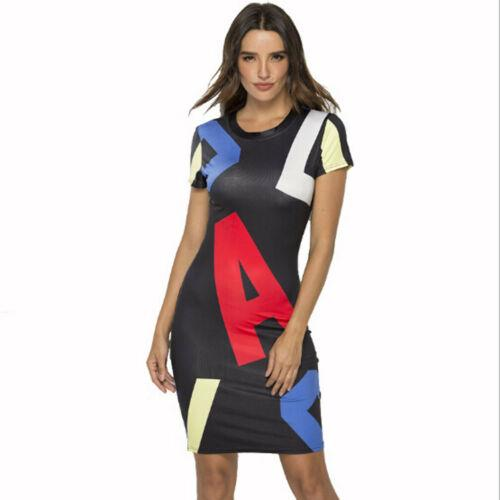 New 2019 Summer Dress Printed Office Midi Pencil Dress Large Women Bodycon Bandage Party Women Clothing