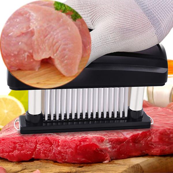 Amante De Carne Aço Inoxidável Ultra Sharp 48 Lâmina De Agulha Ferramenta Para Tenderizing Bife Carne Marinada E CHURRASCO Cozinha Caixa De Cor Pacote HH9-2301