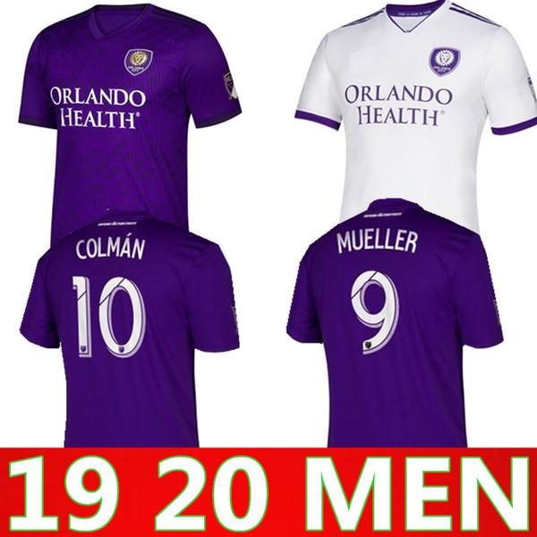 Maglietta da calcio MLS 2019 Orlando City Home viola di alta qualità DWYER NANI PATIÑO MUELLER J. MENDEZ NANI 2020 Sports Home maglie calcio