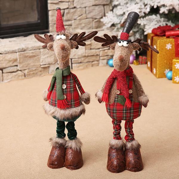 Nouvelles décorations de Noël mobilier de velours rétractable de 24 pouces Les accessoires pour les scènes de Noël dans les centres commerciaux et hôtels