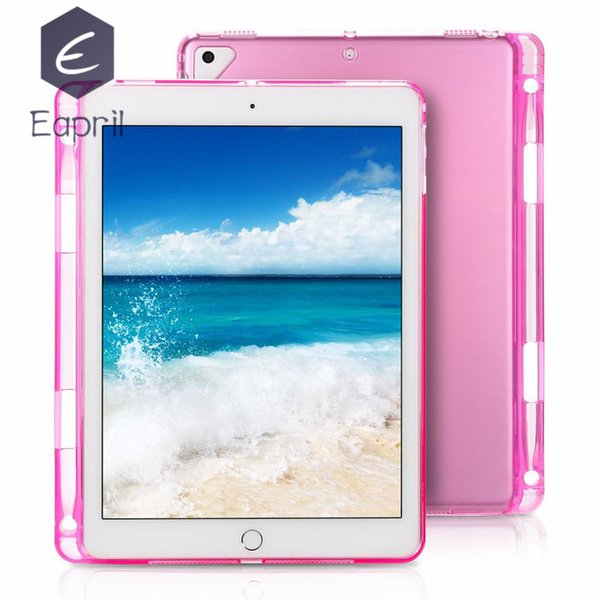 iPad Tablet Case for iPad5689 Soft Case Comes with Pen Slots Universal Ultra-thin HD Transparent TPU Case 50pcs free DHL