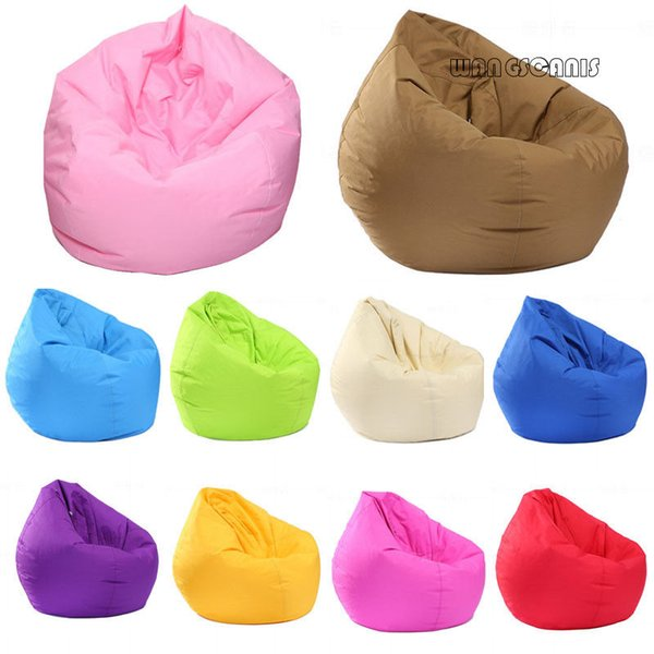 Unfilled Lounge Bean Bag Sofa Cover Home Soft Lazy Sofa Cozy Single Chair Durable Furniture
