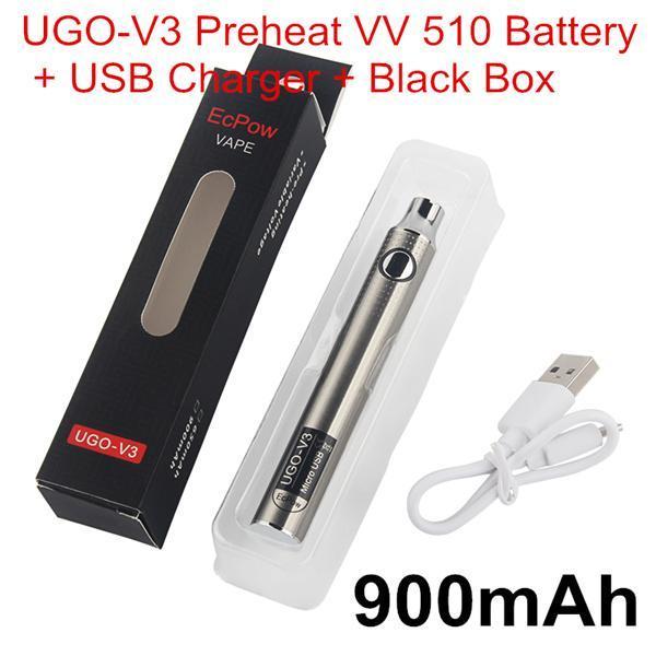 Autêntico UGO V3 Preaquecimento VV 900mAh Kits