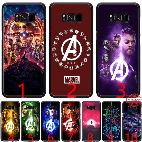 Marvel The Avengers Infinity War Soft Silicone Black TPU Phone Case for Samsung A3 A5 2016 2017 A6 Plus 2018 Cover