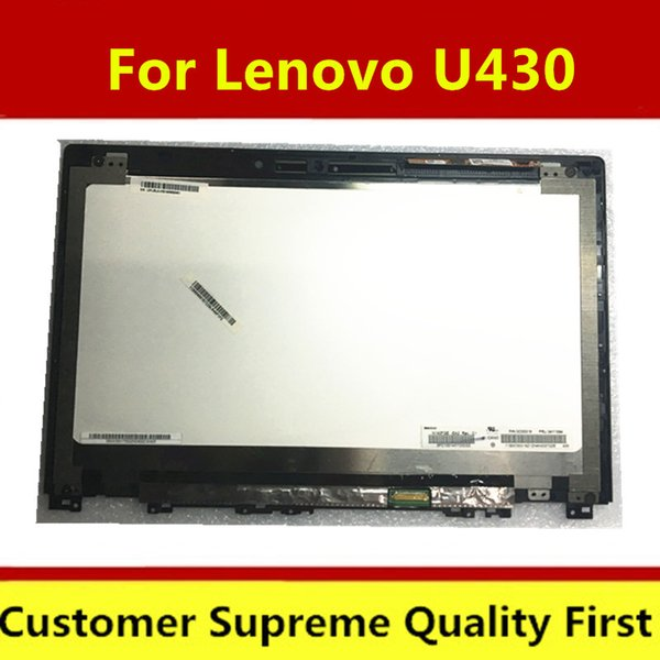 Original 14'' Laptop lcd Screen with touch N140FGE-EA2 For Lenovo U430 Touch lcd assembly 1600*900 (30pins)