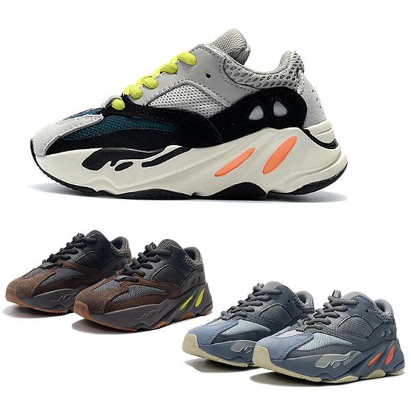 Los niños de los zapatos corrientes de Kanye West corredor de la onda 700 V2 Zapatos jóvenes capacitadores Sply 700 zapatillas deportivas del niño Casual Tamaño del zapato: 28-35295a #
