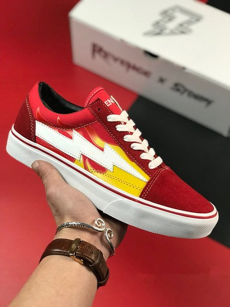 2019 Revenge Torm popup X Storm Old Skool Toile Hommes Chaussures Baskets De Skateboarding Femmes Skate Casual Chaussures