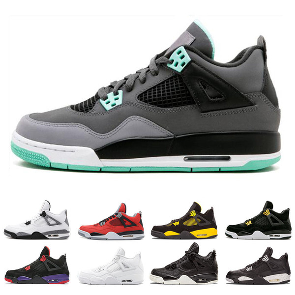 Hot sale 4 4s Royalty men basketball shoes sneakers Single day Tattoo Raptors Classic Men Alternate Motorsport White Cement sports shoes