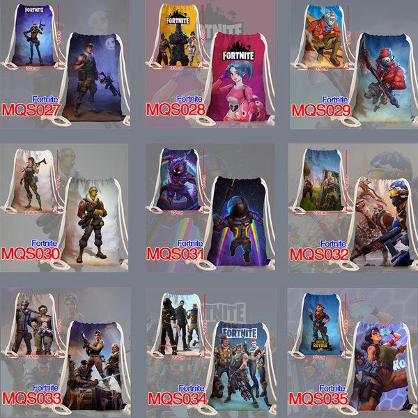 Fort nite cosplay zaino per bambini regalo con coulisse Tasche di stampa cartone animato borse Fort nite borsa a tracolla per bambini festival regalo per unisex adolescente