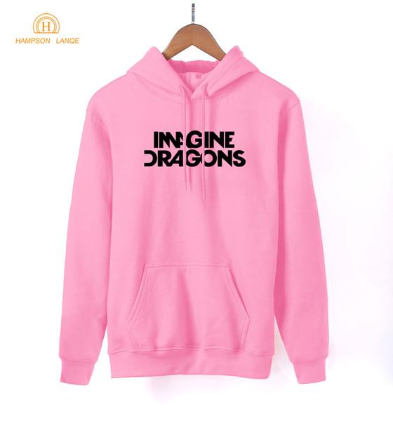 Fashion-2018 Frühling Herbst Frauen Hoodies Rock Band IMAGINE DRAGONS Kawaii Sweatshirt Frauen Langarm Pullover Hipster Trainingsanzug S-XXL