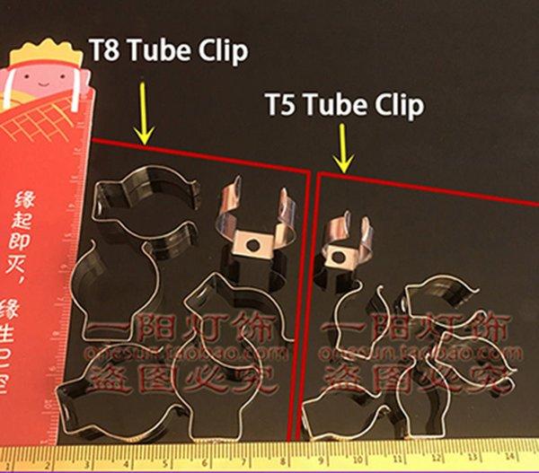 Clip de tubo T8 de 10 piezas