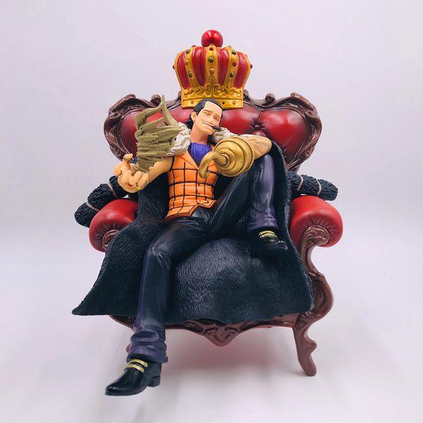 Anime japonés One Piece Super Big Sir Cocodrilo en figura de sofá