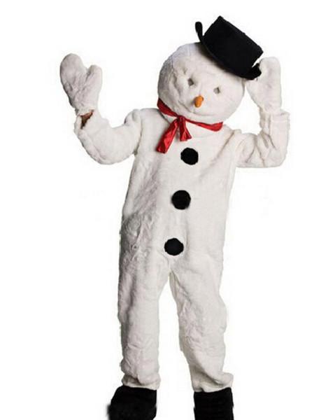 Atacado boa qualidade frosty boneco de neve de natal mascote traje férias mascotte outfit