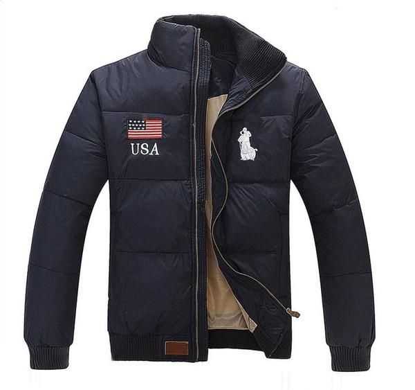 Ralph Lauren hombres del diseñador para hombre invierno bandera clásica chaqueta de lujo de la chaqueta de la chaqueta de caballo de polo logotipo caliente al aire libre a prueba de viento venta abrigo