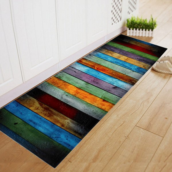 Soft Flannel Striped Pattern Doormat Floor Mat Anti Slip Carpet Kitchen Mat  Door Mat Kitchen Carpet Toilet Rug Porch Doormat High End Carpet Brands ...