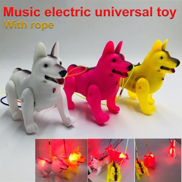 2019 Fashion German Shepherd Plastic LED Electric Dog for Kids Drop Shipping