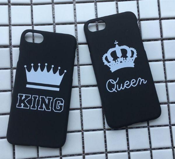 NOVA marca rei rainha ultra fino phone case case para iphone x 8 7 plus 6 Casos de Telefone Coroa De Luxo Fino Shell Coque