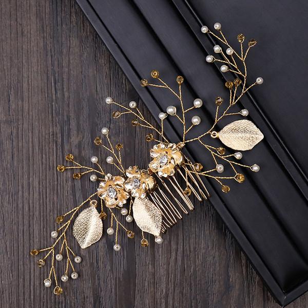 Wedding Bridal Bridesmaid Combs Tiaras Silver Handmade Rhinestone Pearl Headbands Luxury Hair Accessories Headpiece Tiara Jewelries Z39