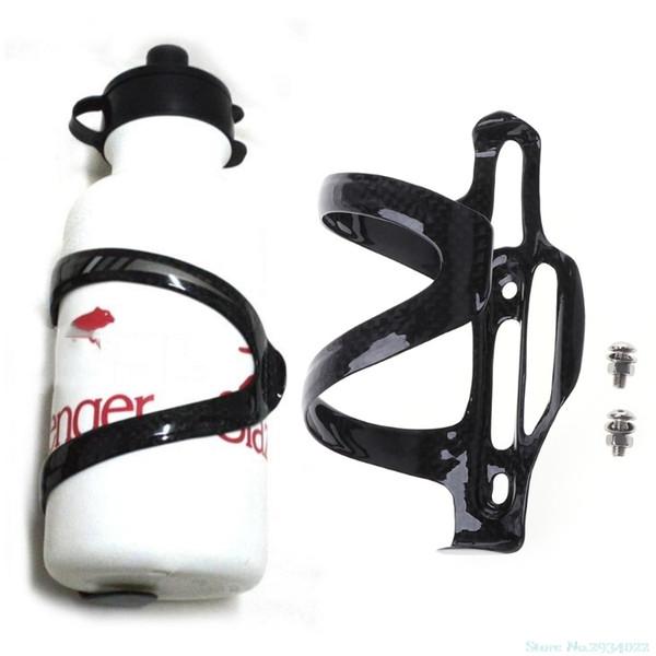 New 1 set Carbon Fiber Bicycle Bike Water Bottle Holder Adjustable Side Open Cage Kit Drop Ship #279601