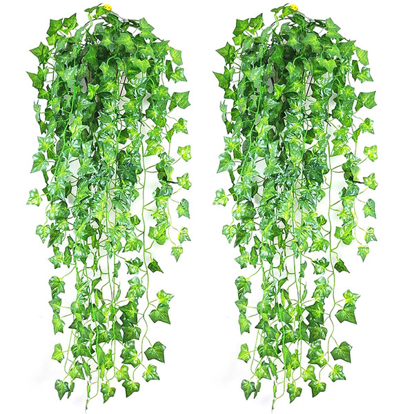 High wall artificial ivy sweet green leaves ivy boston plant decoration art large boston vine Foliage for festival greenery