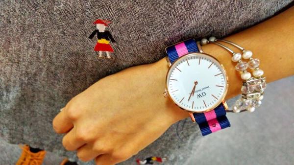 mode designer 12e27 a6e62 Acheter Nouvelle Marque De Mode Daniel Wellington Montres 40mm Hommes  Montre Pour Femme Montres DW Quartz Bracelet Montres Montre Femme Noël A2  De ...