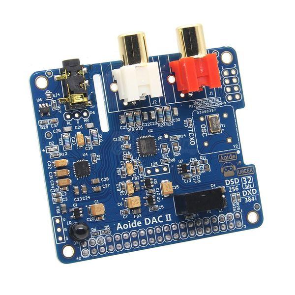 Freeshiping DAC II ES9018K2M Hifi Sound Card 32bit DSD/APE/FLAC/WAV Music Player Audio Expansion Board For Raspberry Pi 3 Model B+plus/3B/2B