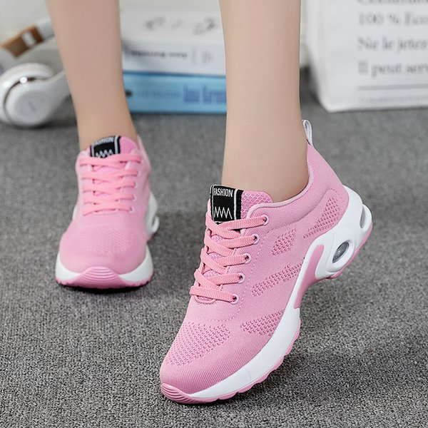 Shoes Woman Casual Platform Sneakers Breathable Mesh Cushioning Flat Shoes For Ladies Lace Up Chaussures Femme Footwear Big Size